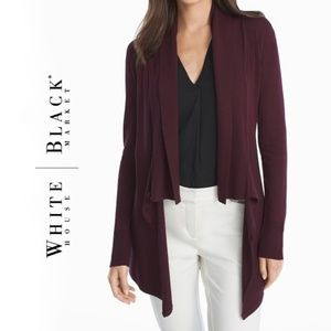 White House Black Market Wine Color Cardigan NWT
